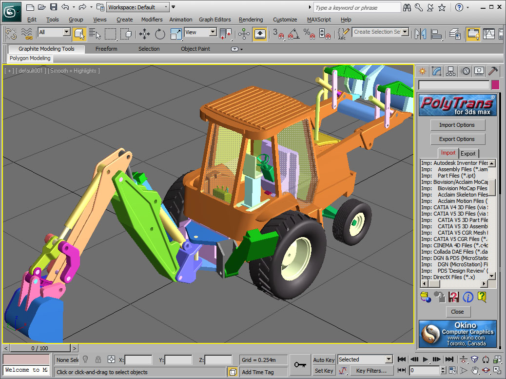 Supported 3D Import File Formats of Okino's PolyTrans and NuGraf