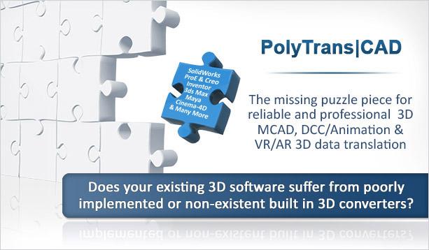 PolyTrans CAD file Translator and Converter for 3D