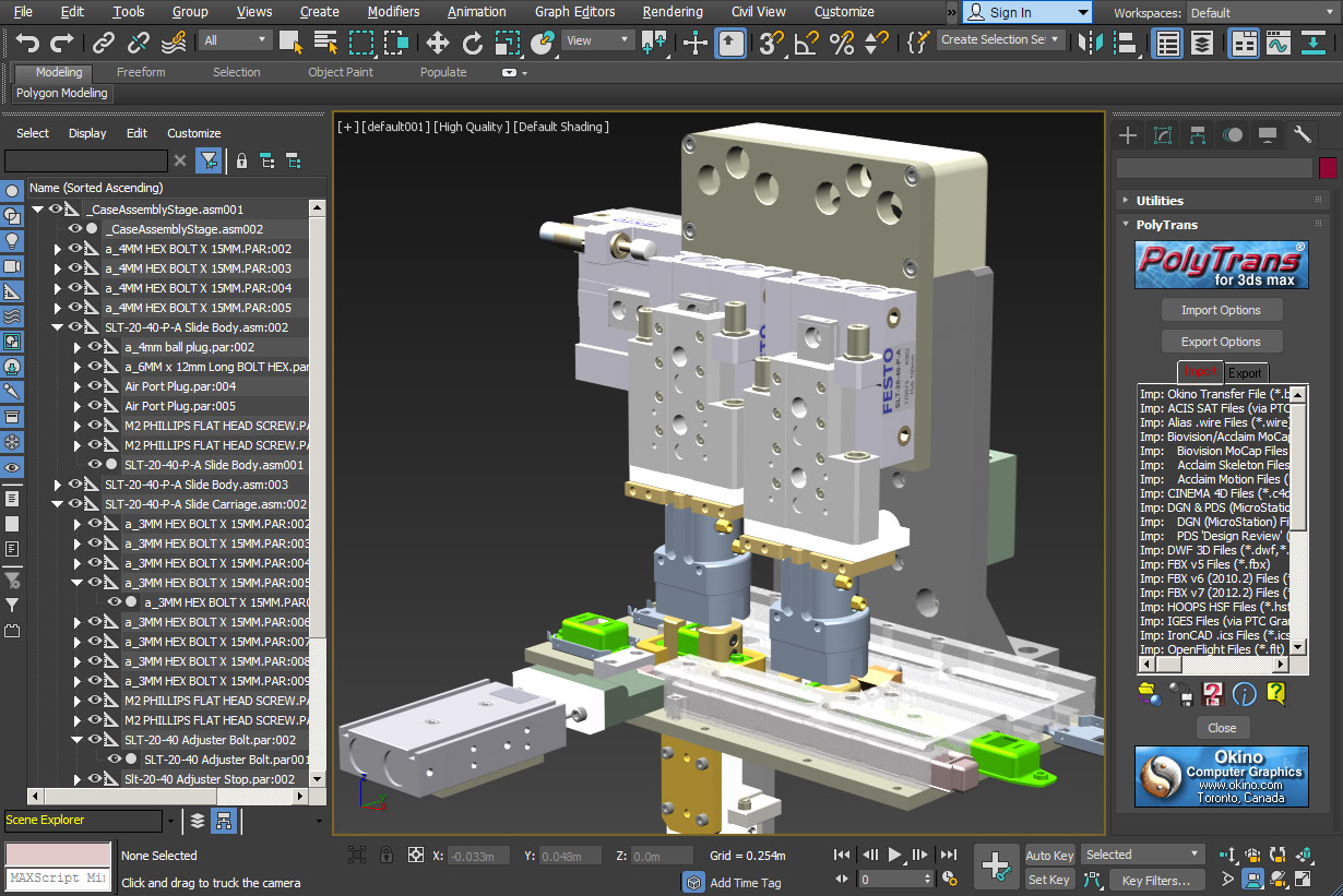 Okino's 3D Converters and Translators for Autodesk 3ds Max