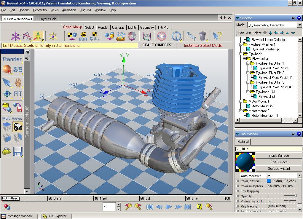 Okino's Autodesk Inventor CAD 3D Importer and Solutions