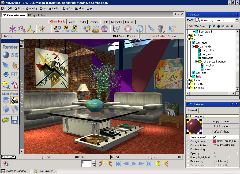 Okino nugraf 3d translator 3d converter rendering for Room modeling software
