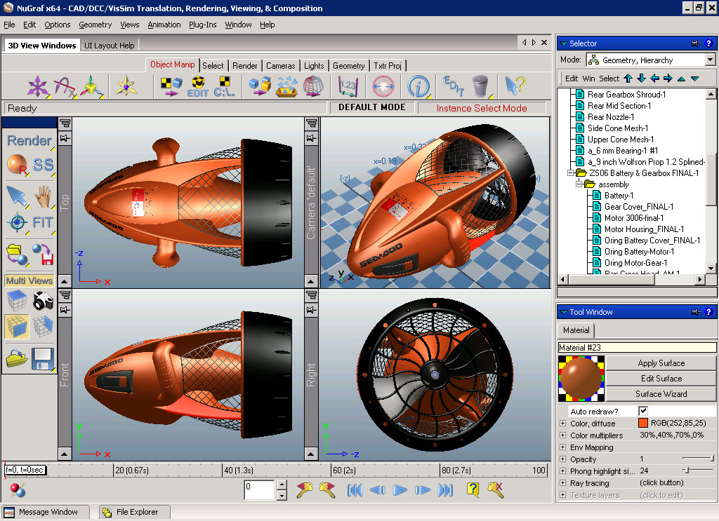 Okino nugraf 3d translator 3d converter rendering viewing software for cad mcad nurbs 3d drawing software